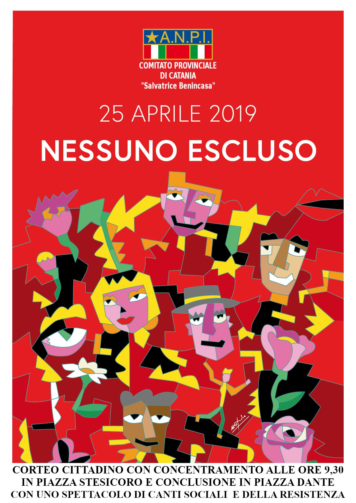 Locandina 25 aprile 2019